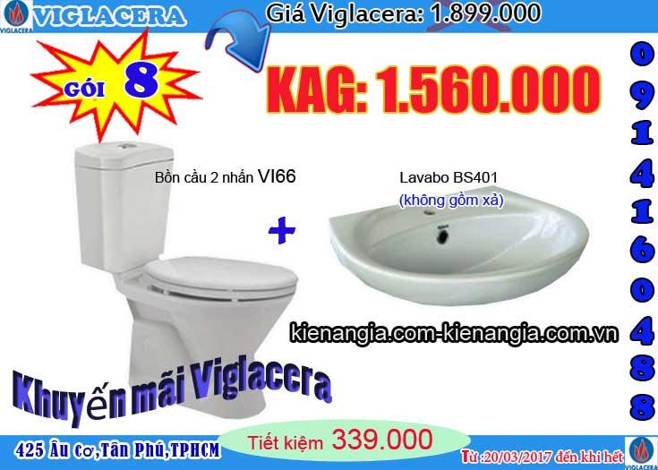 Khuyến mãi bồn cầu VIGLACERA 2017 kiến an gia 0914160488 V66