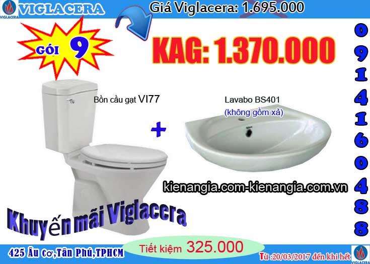 Khuyến mãi bồn cầu VIGLACERA 2017 kiến an gia 0914160488 VI77