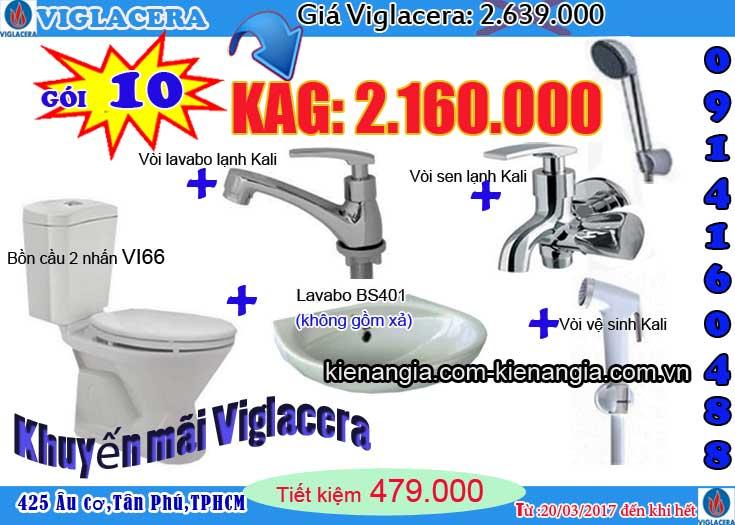 Khuyến mãi bồn cầu VIGLACERA 2017 kiến an gia 0914160488 VI66 SEN VOI