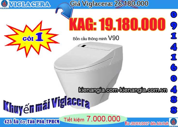 Mua bồn cầu NANO nung Viglacera tặng lavabo Kiến an gia 2017 v90