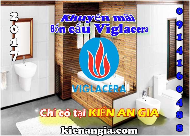 Mua bồn cầu NANO nung Viglacera tặng lavabo Kiến an gia 2017