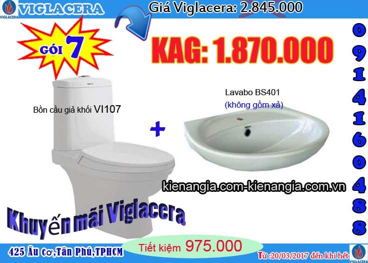 VIGLACERA khuyến mãi giá rẻ cầu tặng lavabo 0914160488 VI107