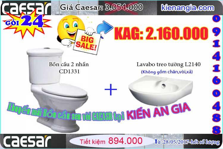 Bigsale khuyến mãi Caesar 2017-CD1331-Kiến an gia