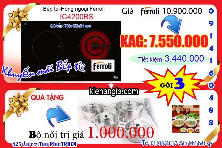 Khuyến mãi bếp hồng ngoại Ferroli-0914160488