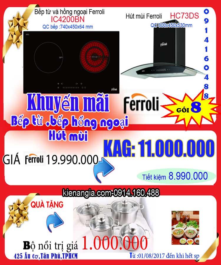 Khuyến mãi bếp từ,hút mùi Ferroli-0914160488