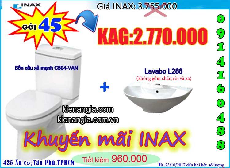 KIẾN AN GIA khuyến mãi mùa đông INAX C504 2017-0914160488