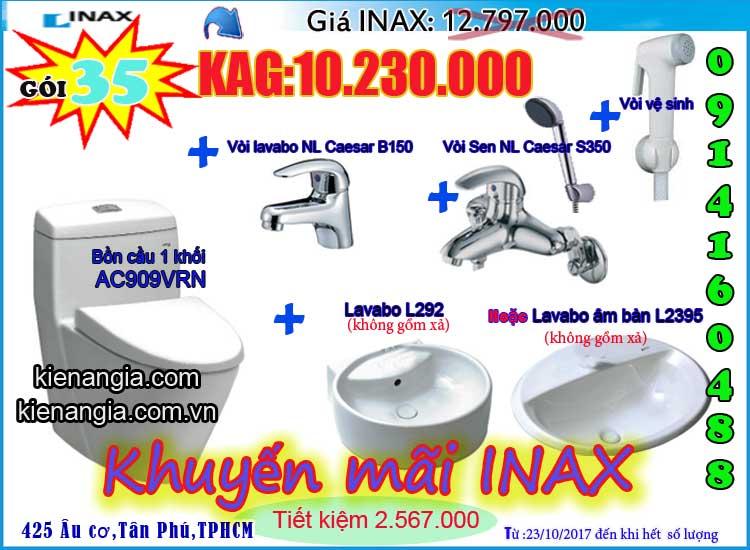 KIẾN AN GIA khuyến mãi mùa đông INAX AC909 2017-0914160488