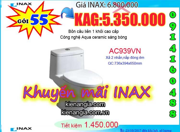 KIẾN AN GIA khuyến mãi mùa đông INAX AC939 2017-0914160488