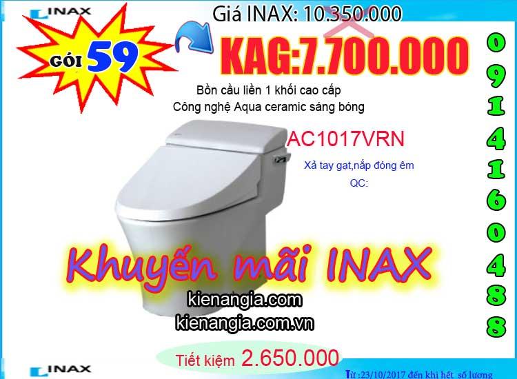 KIẾN AN GIA khuyến mãi mùa đông INAX AC1017 2017-0914160488