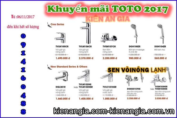 Mua sen vòi Toto khuyến mãi ở KIẾN AN GIA 0914160488