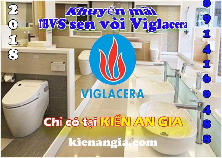 Khuyến mãi 2018 Bồn cầu sen vòi Viglacera 0914160488