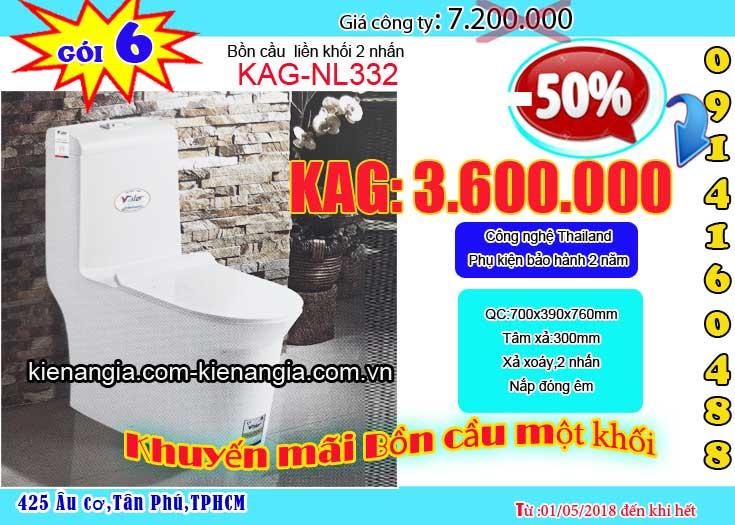 KIẾN AN GIA khuyến mãi bồn cầu 1 khối giá rẻ công nghệ Thailand