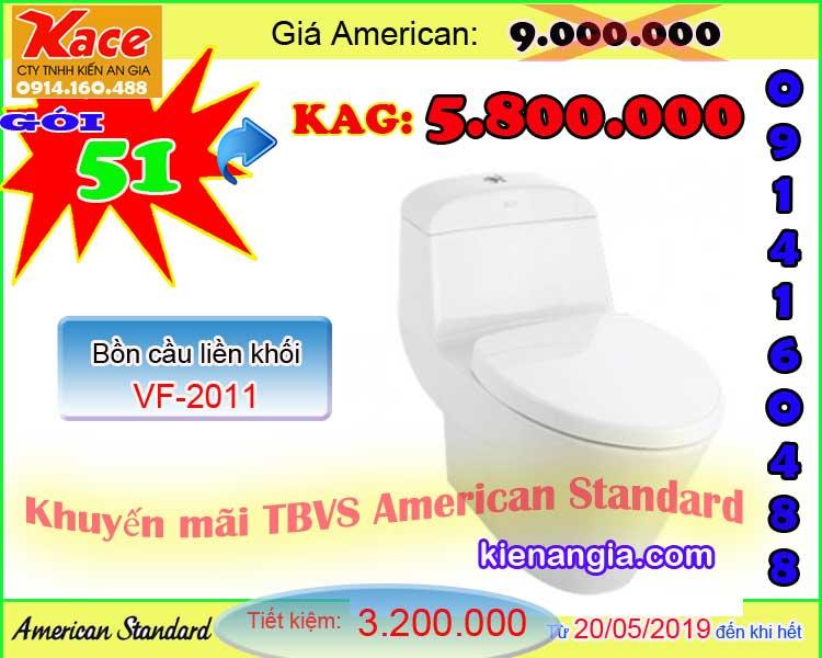 Khuyến mãi TBVS American standard hè 2019