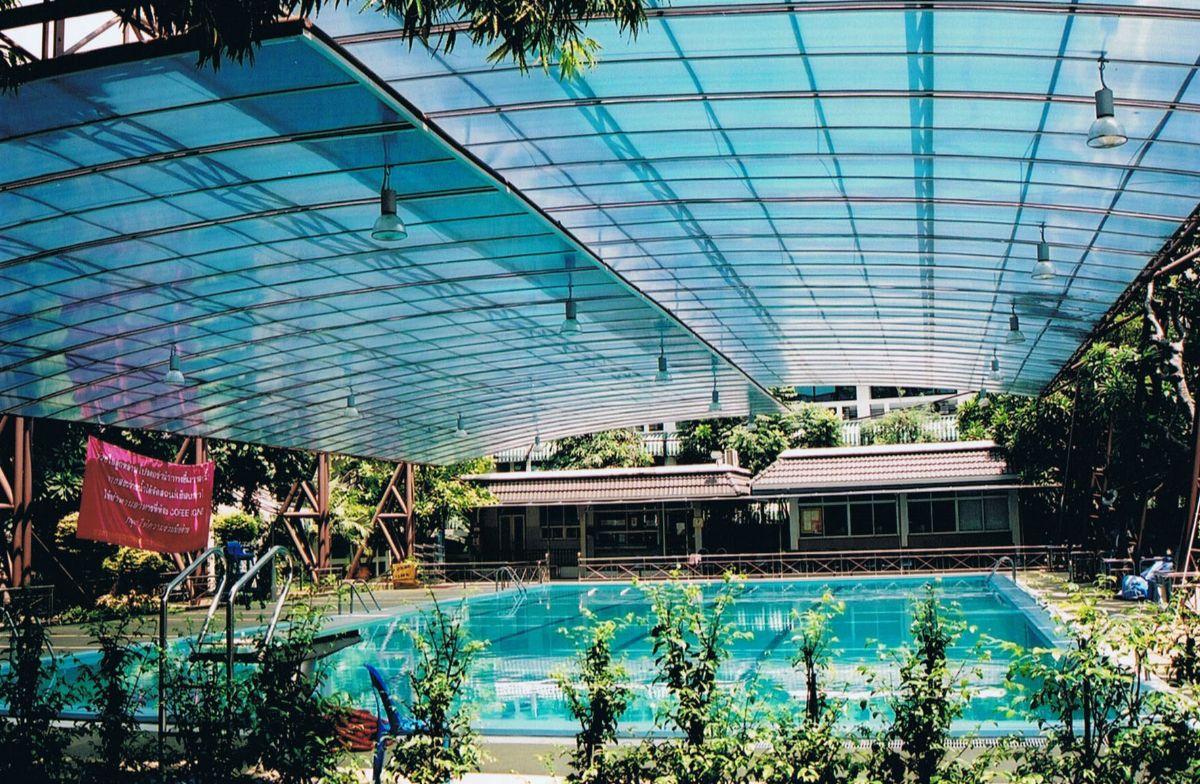 mẫu làm mái bể bơi