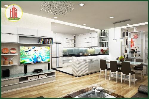 Nội thất căn hộ phòng bếp