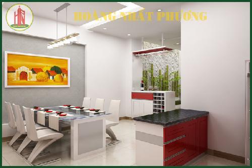 Mẫu thiết kế phòng bếp đẹp với điểm nhấn tạo nên sự khác biệt