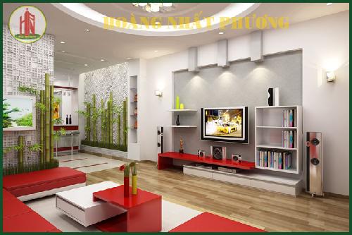 Thiết kế nội thất nhà đẹp với tông trắng đỏ chủ đạo