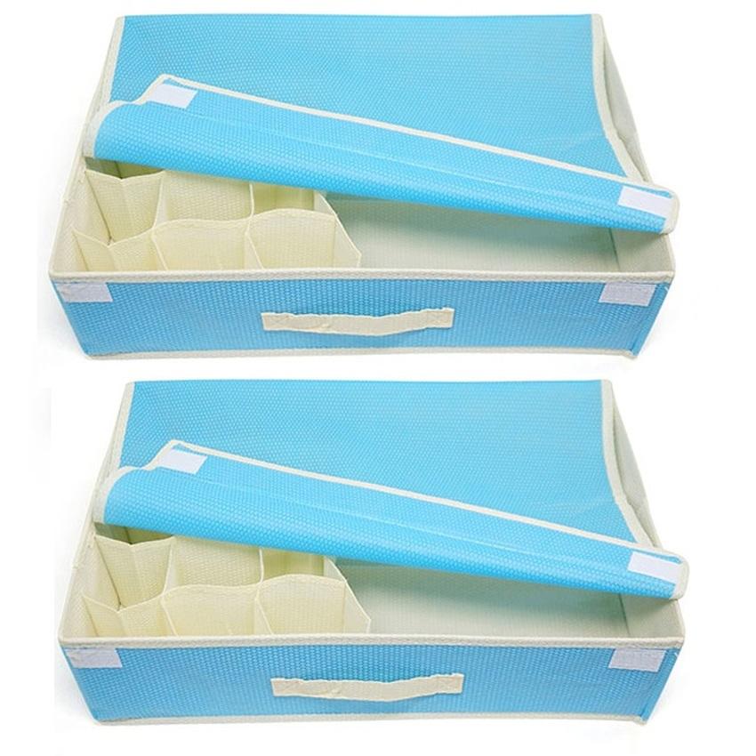 Bộ 2 hộp đựng đồ lót tay xách BL HV00045