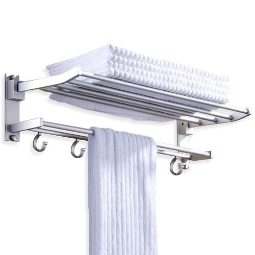 Giàn treo khăn 2 tầng cao cấp có móc treo