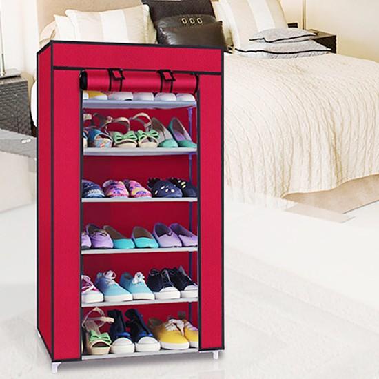 Tủ vải để giầy 6 tầng đa năng - Trơn