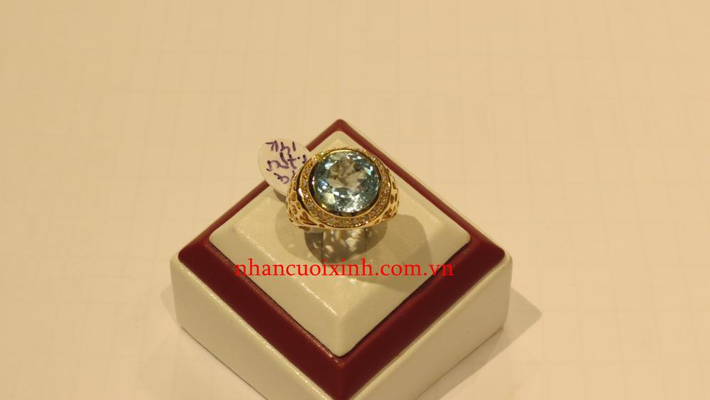 Nhẫn nữ Topaz xanh