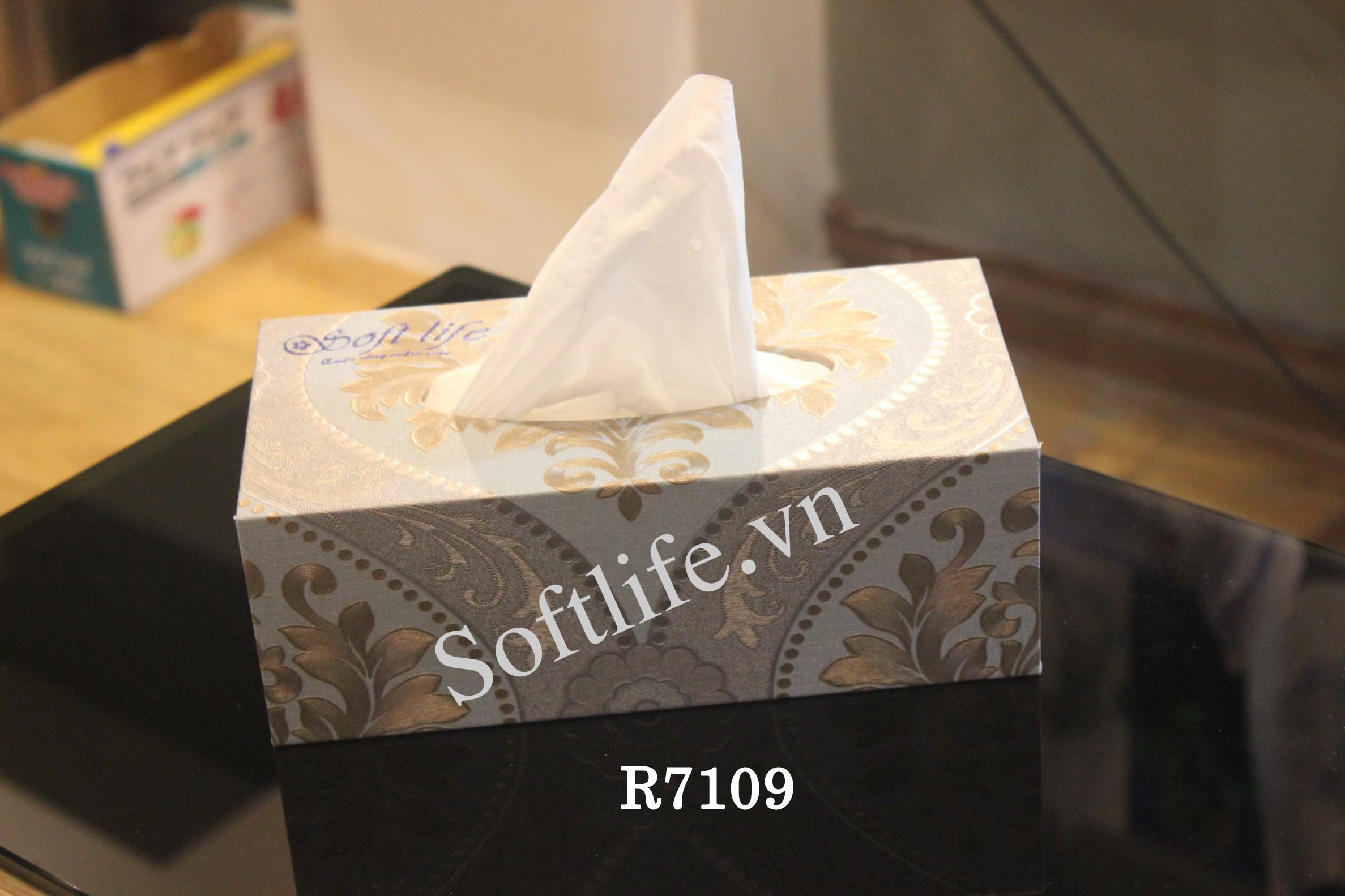 Hộp khăn giấy lụa Soft Life R7109