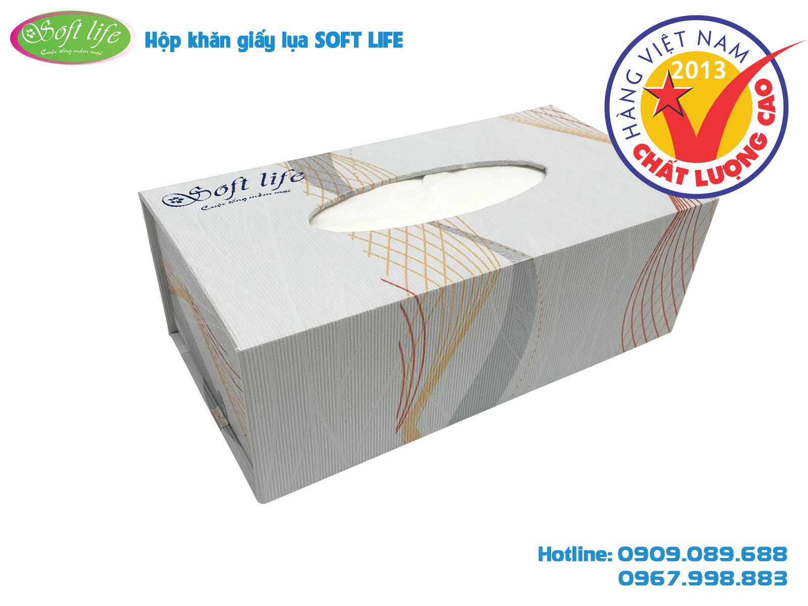 Hộp giấy ăn cao cấp Soft Life