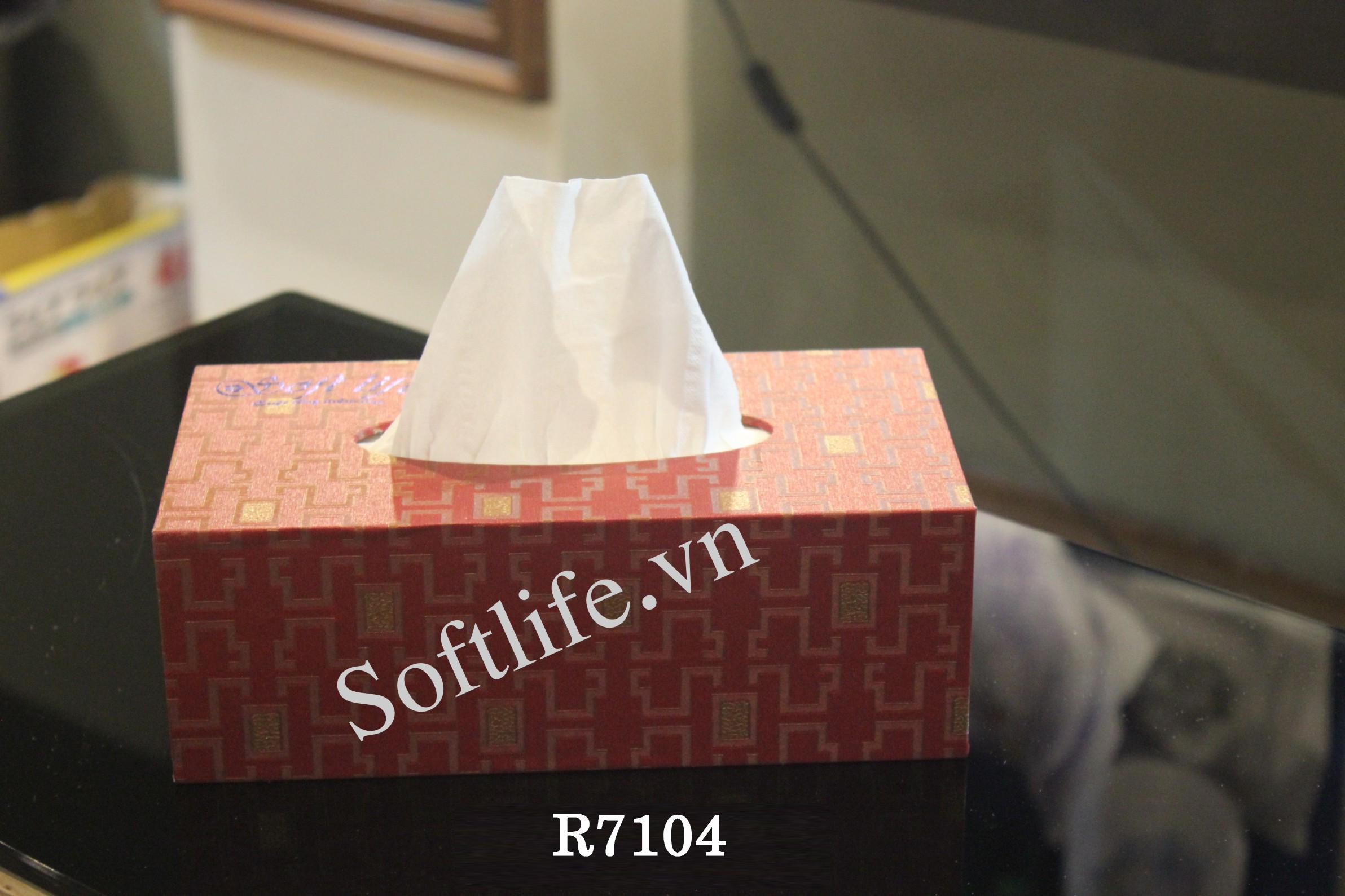 Hộp khăn giấy lụa Soft Life R7104 - h1