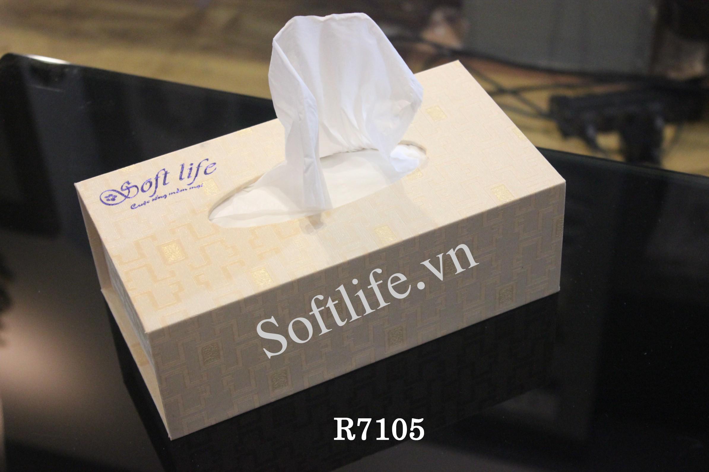 Hộp khăn giấy lụa Soft Life R7105