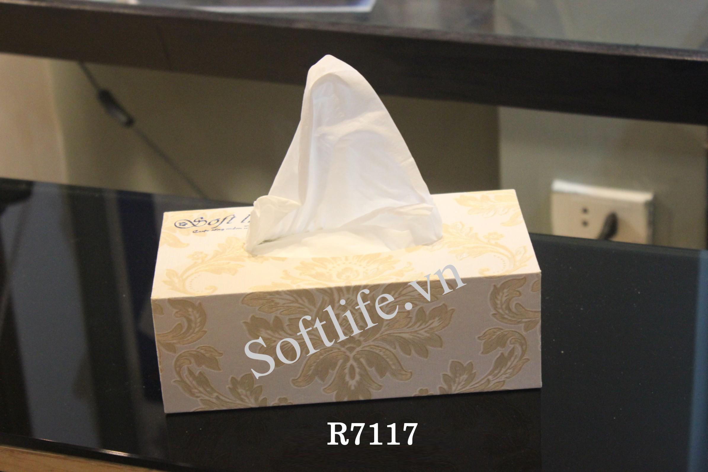 Hộp khăn giấy lụa Soft Life R7117
