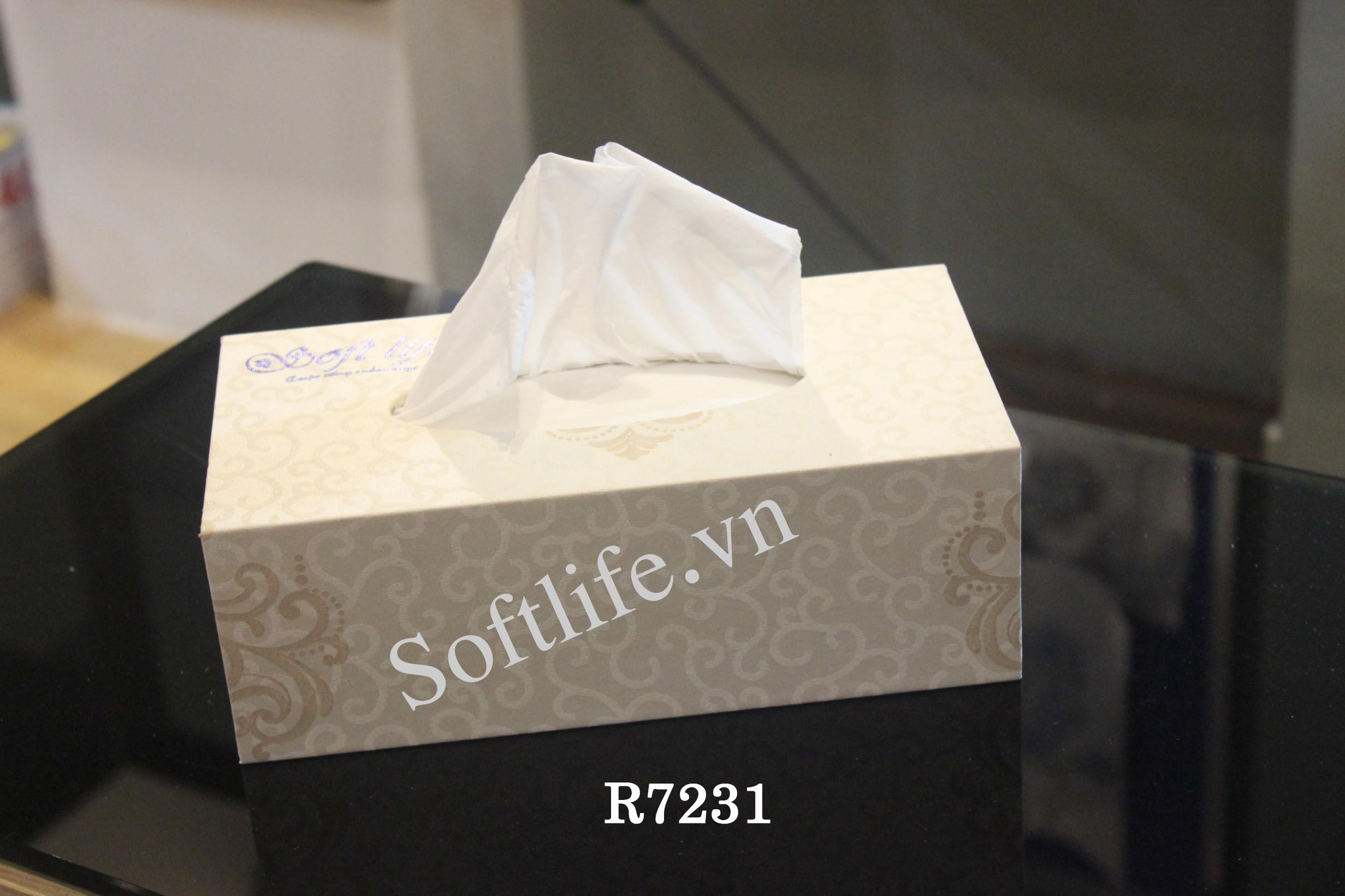 Hộp khăn giấy lụa Soft Life R7231