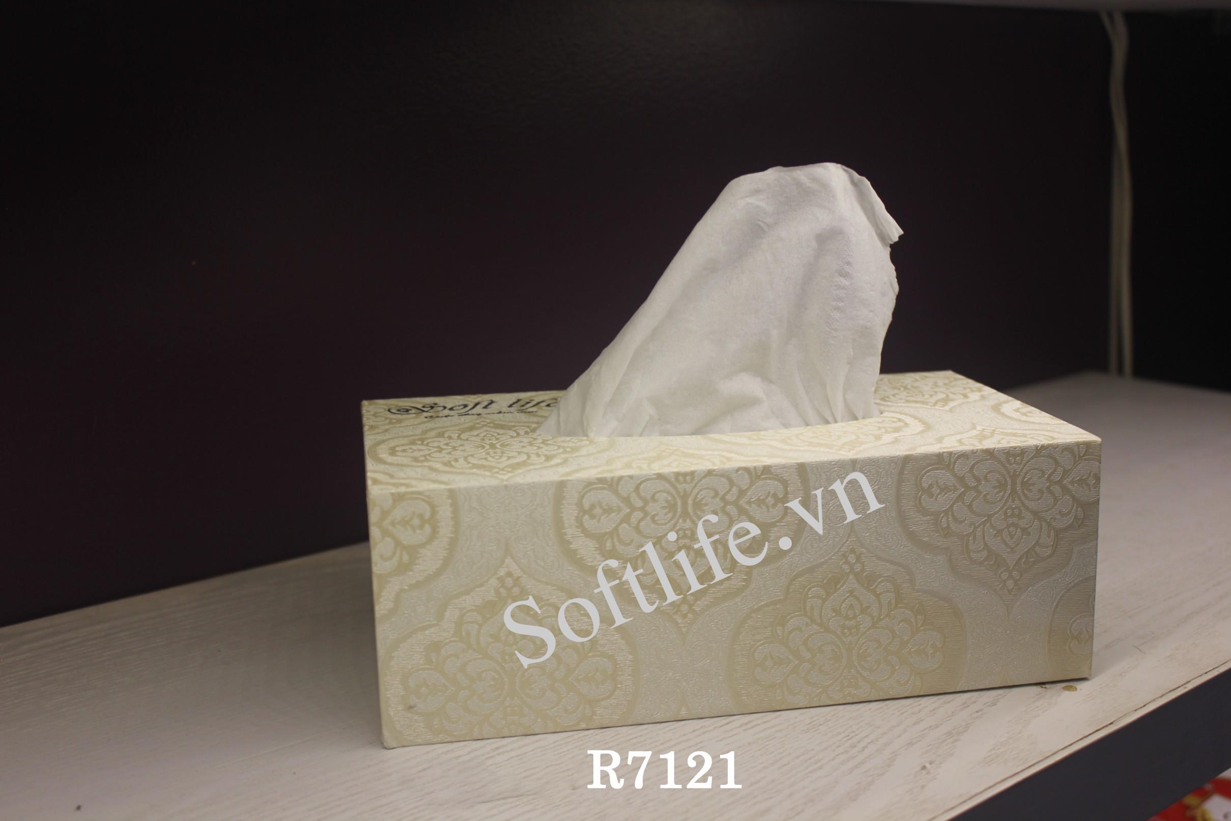 Hộp khăn giấy lụa Soft Life R7121