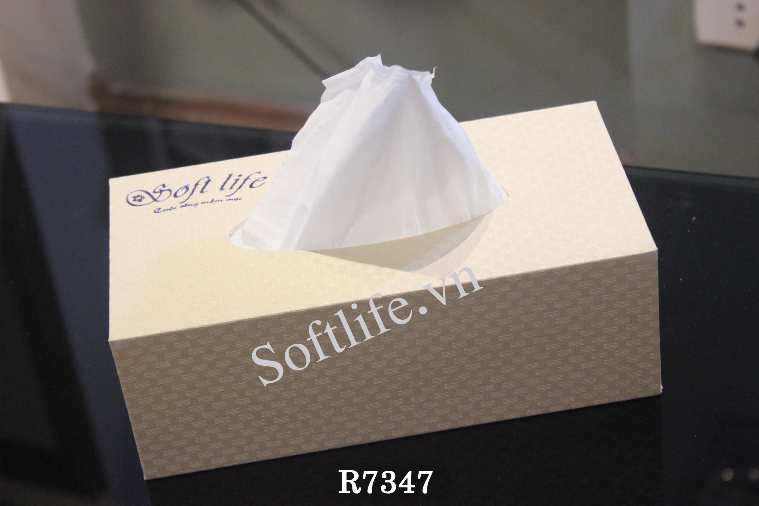 Hộp khăn giấy lụa Soft Life R7347