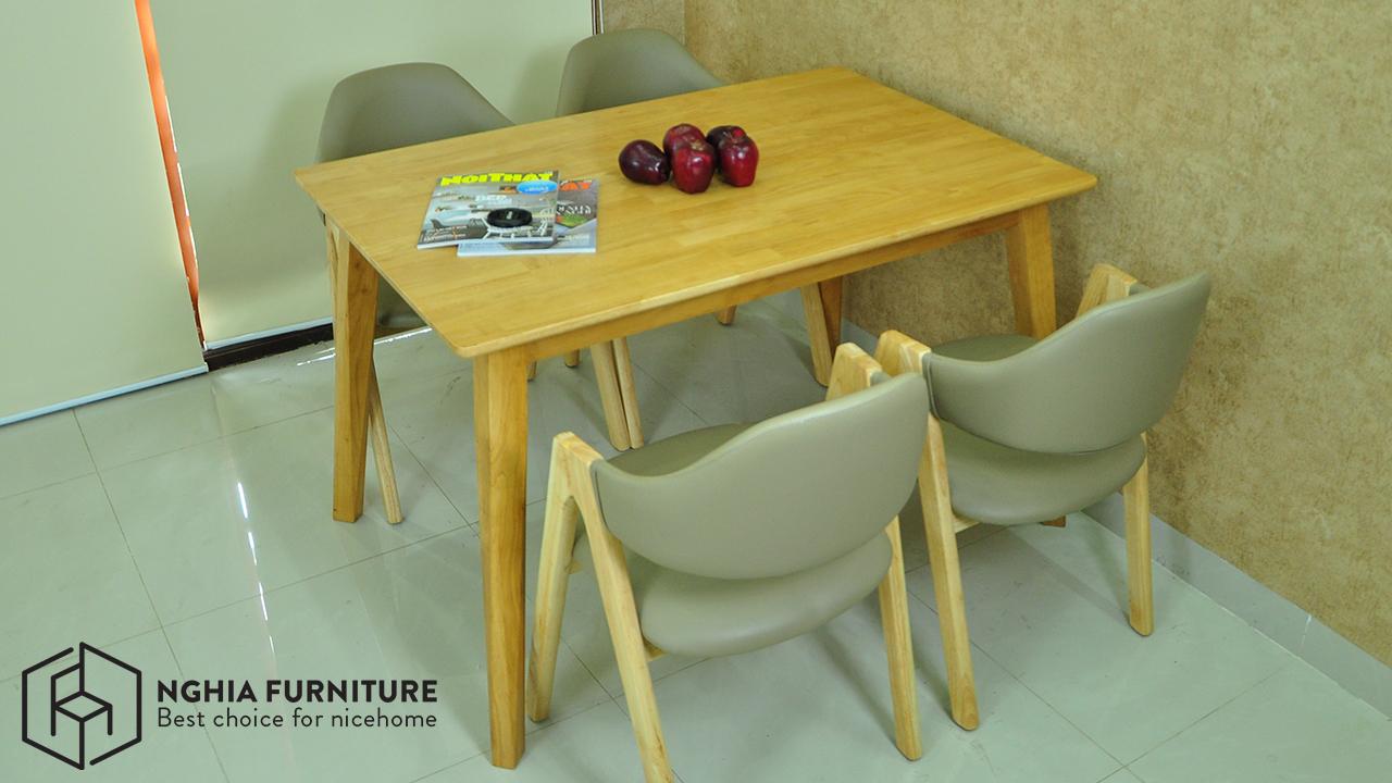 bàn ghế ăn gỗ đẹp hiện đại tại Hà Nội