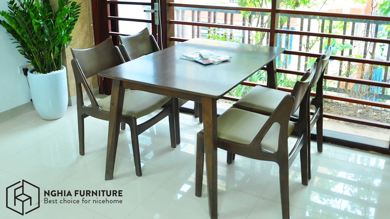 bàn ghế ăn bằng gỗ đẹp