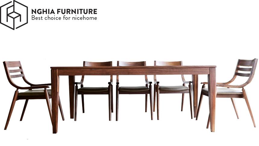 bàn ghế ăn gỗ óc chó tphcm