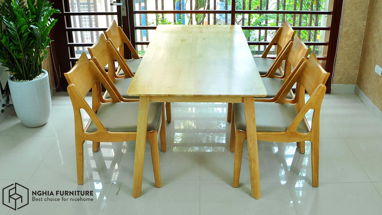 bàn ăn osaka 6 ghế giá rẻ