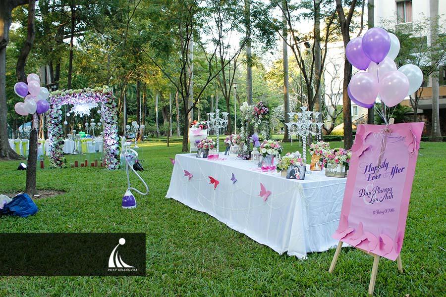 tổ chức tiệc cưới ngoài trời 4