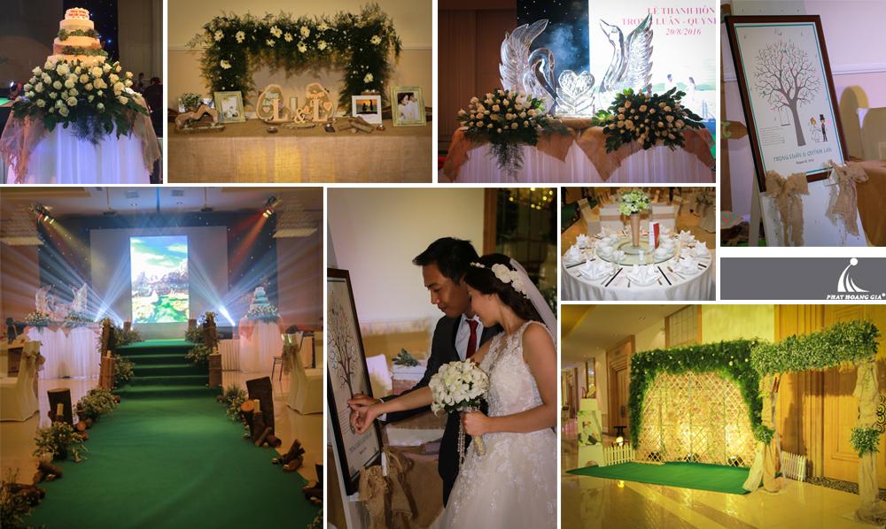 trang trí cưới theo chủ đề