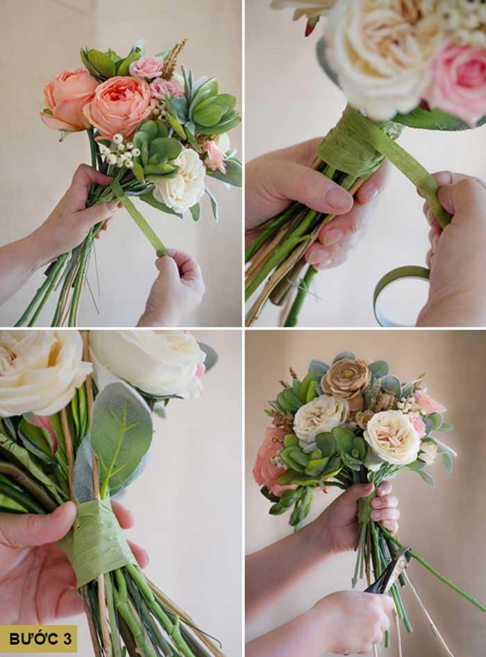 hoa cưới cầm tay handmade