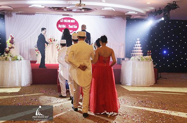 nghi thức lễ cưới tại nhà hàng