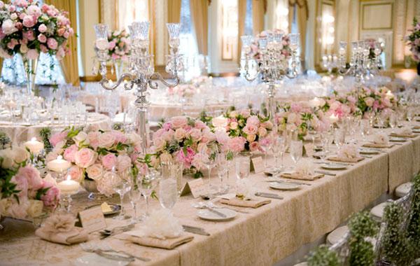 Xu hướng tiệc cưới bàn dài hot nhất 2018