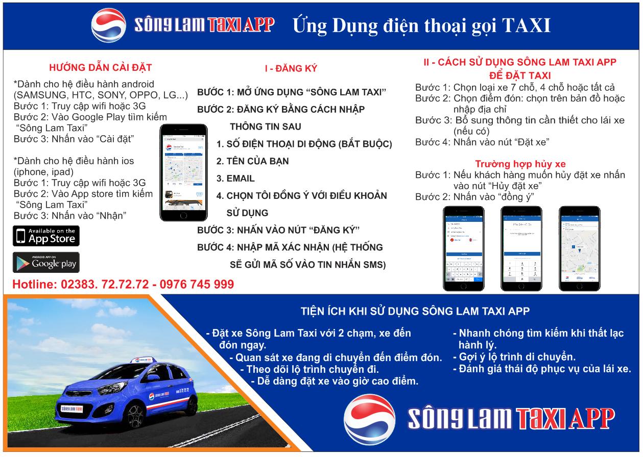 Hướng dẫn tải App Taxi Sông Lam