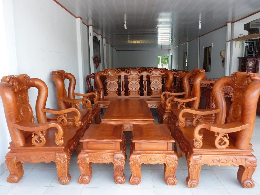 Bộ Mẫu bàn ghế gỗ | Bàn ghế phòng khách nhỏ đẹp BG9906