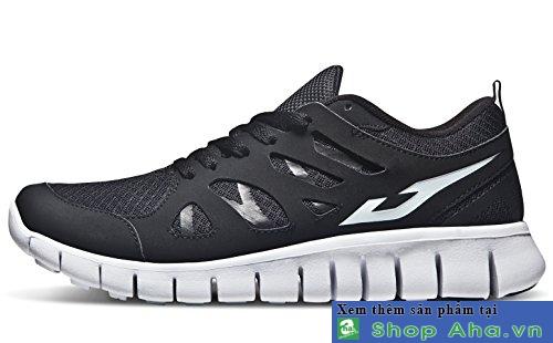 giày tesla đen trắng