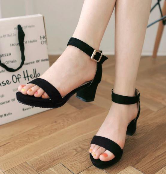 giày cao gót đế vuông giá rẻ