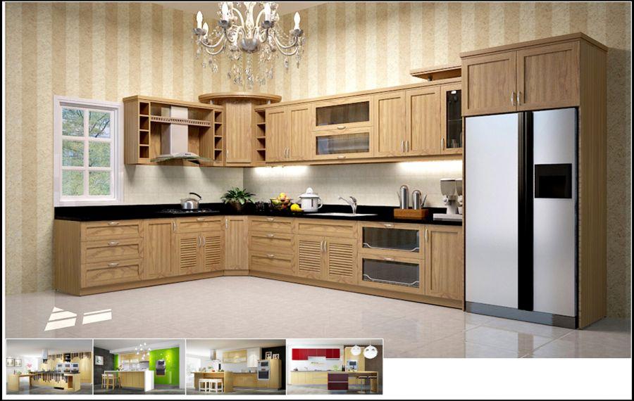 Các mẫu tủ bếp hình chữ l đẹp và giá ở đâu tốt nhất TpHCM 01