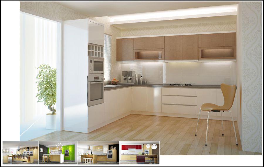 Các mẫu tủ bếp hình chữ l đẹp và giá ở đâu tốt nhất TpHCM 05