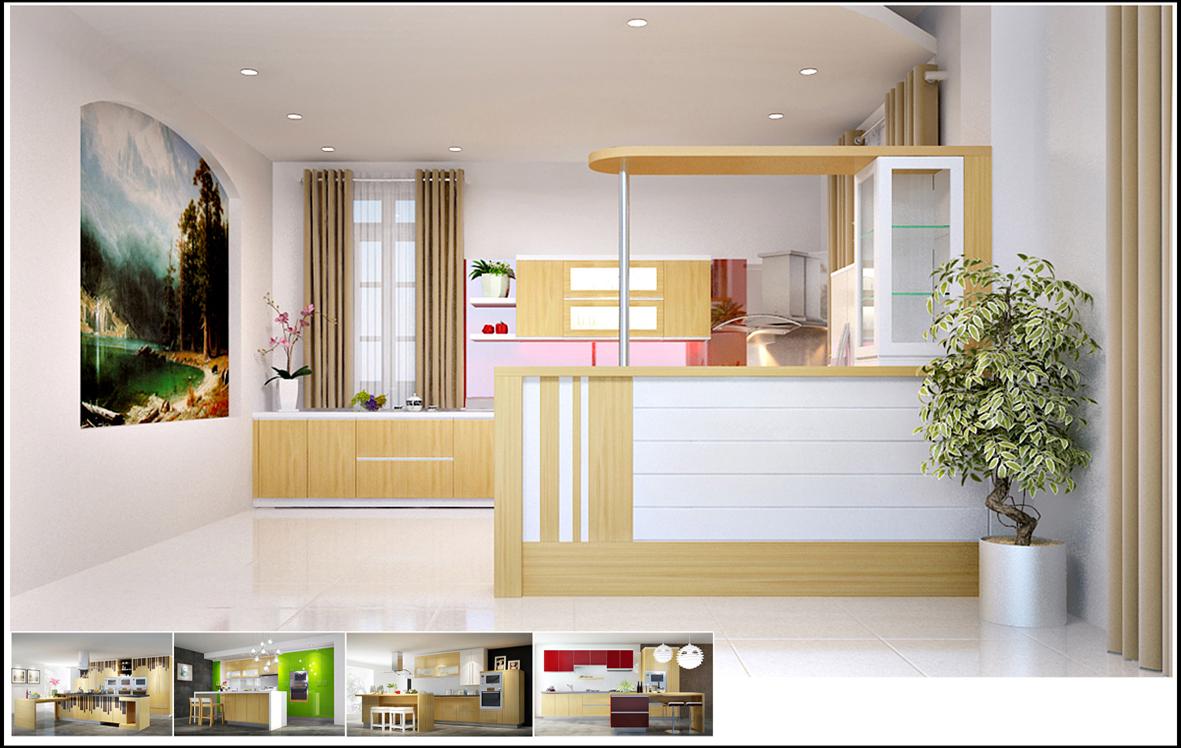 Tủ bếp laminate là gì giá tủ bếp laminate và acrylic tại TpHCM 02