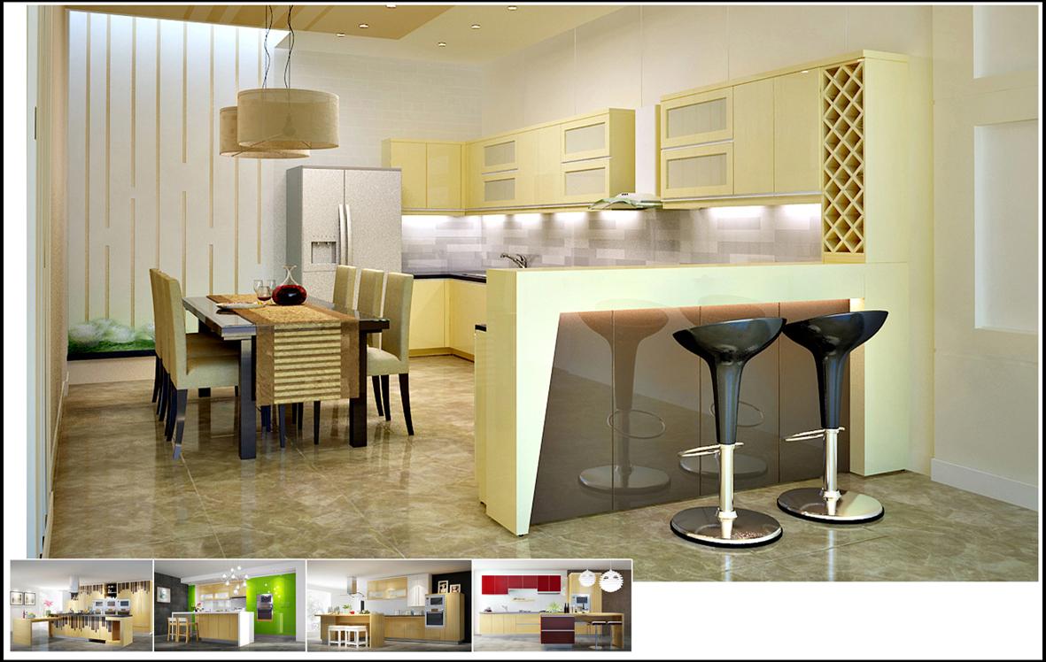 Tủ bếp laminate là gì giá tủ bếp laminate và acrylic tại TpHCM 05